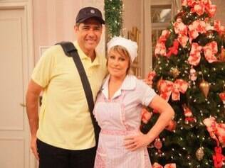 William Bonner posa com Ana Maria Braga, a cozinheira