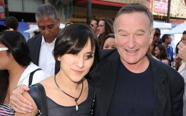 Zelda e Robin Williams em foto de 2011