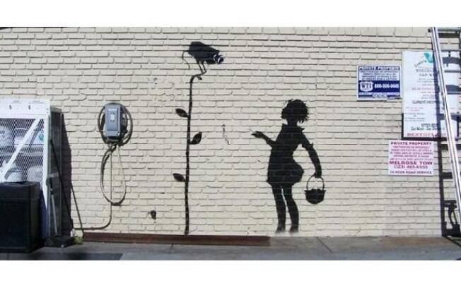 Obra 'Flower Girl', de Banksy
