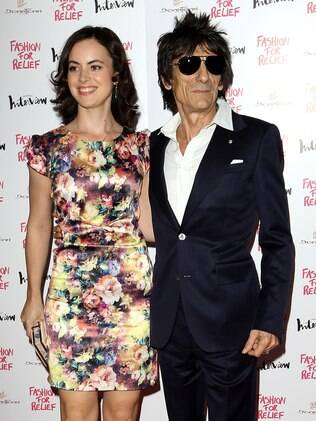 Sally Humphreys e Ronnie Wood em 2012