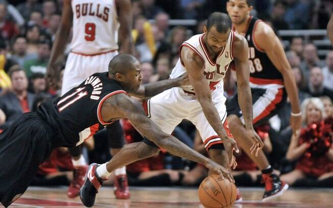 Lance da derrota do Chicago Bulls para o Portland Trailblazers