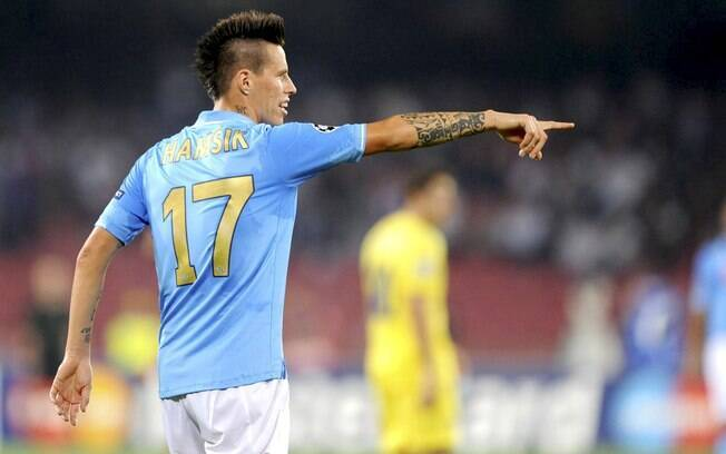O eslovaco Hamsik, do Napoli, interessa ao Manchester City