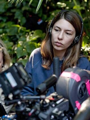 A diretora Sofia Coppola no set de 'Somewhere'