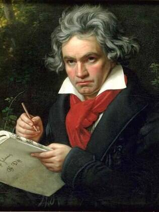 O compositor Beethoven