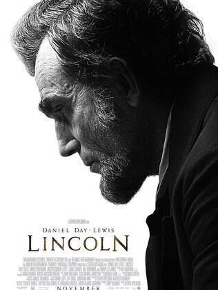 Daniel Day-Lewis no cartaz de 'Lincoln'