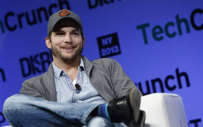 Ashton Kutcher participa do evento  TechCrunch Disrupt NY, em maio de 2013