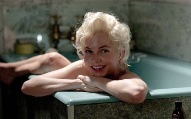 A atriz Michelle Williams como Marilyn Monroe no drama