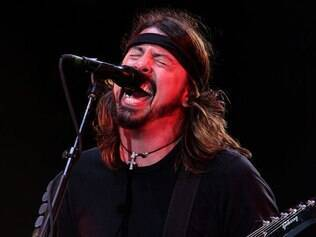 Dave Grohl em show do Foo Fighters no Lollapalooza