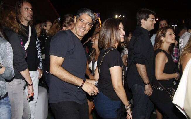 William Bonner e Fátima Bernardes curtindo o Rock in Rio