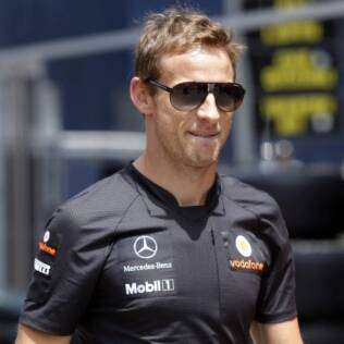 O britânico Jenson Button no fim de semana do GP da Europa