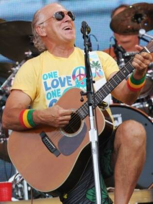 O cantor Jimmy Buffett