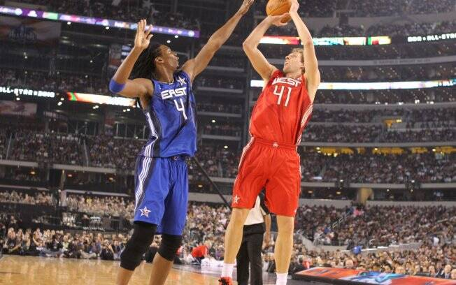 Dirk Nowitzki e Chris Bosh: confronto do