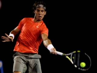 Nadal durante duelo com Tomic