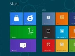 Windows 8 tem design inspirado no sistema Windows Phone, também da Microsoft
