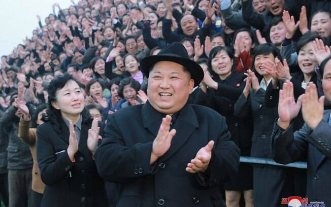 Kim Jong Un na  Coreia do Norte
