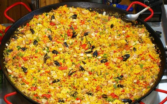 Todas as cores da paella