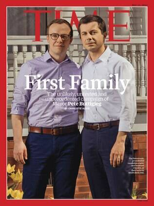 casal Buttigieg na capa da revista Time