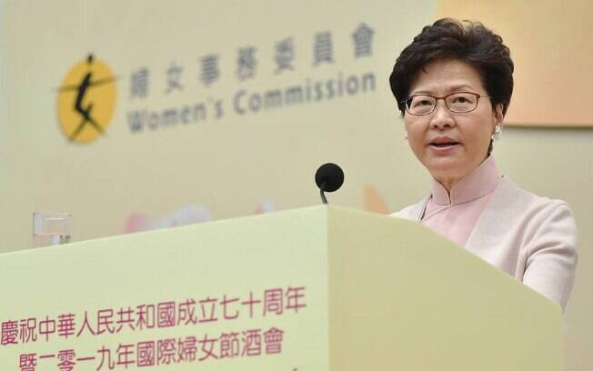 Carrie Lam, chefe-executiva de Hong Kong