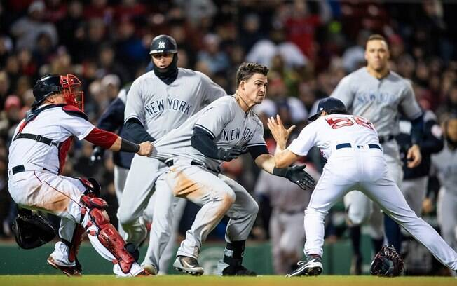 Briga envolve jogadores do New York Yankees e Boston Red Socks
