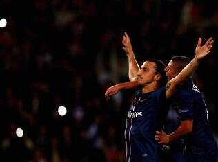 Ibrahimovic comemora gol do PSG