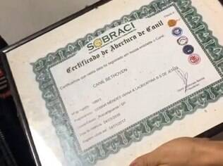 certificado de registro do canil