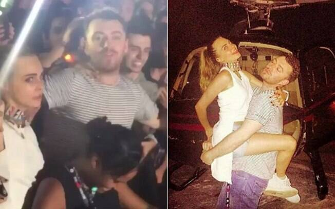 Cara Delevingne e Sam Smith se esbaldam no Rock in Rio