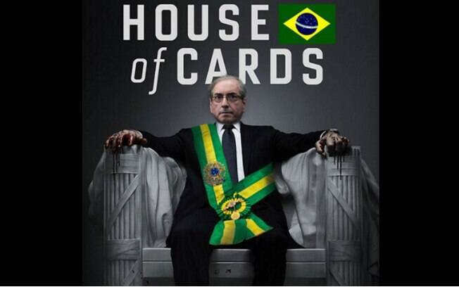 No Twitter, Cunha é frequentemente comparado pelos internautas a Francis Underwood, personagem principal de