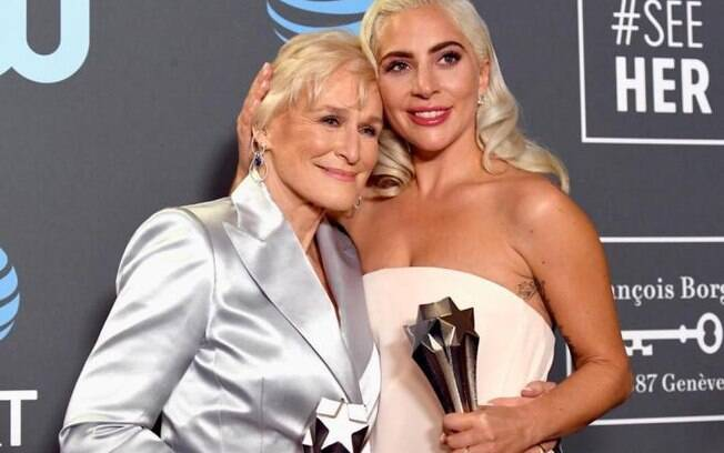 Lady Gaga e Glenn Close empataram no Critic´s Choice Awards