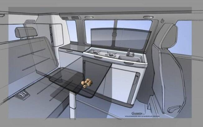 interior da VW Transporter