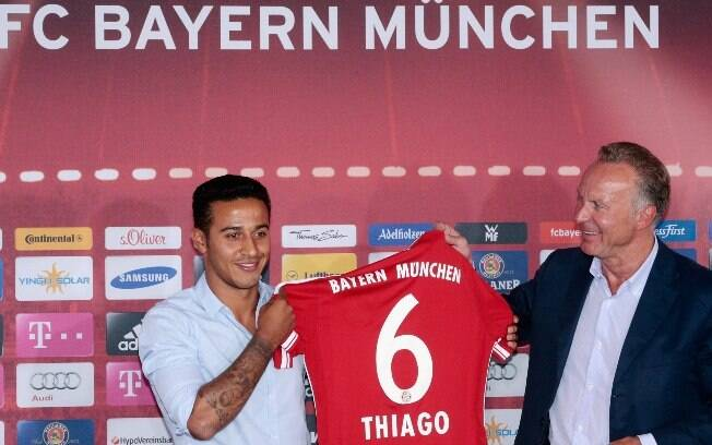 Thiago Alcântara será o camisa 6 do Bayern de Munique