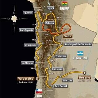 Percurso do Rally Dakar de 2014