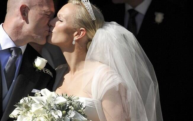 O beijo de Mike Tindall e Zara Phillips