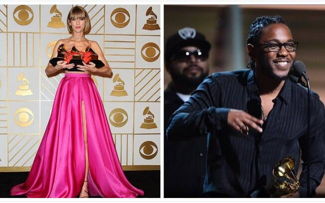 Taylor Swift e Kendrick Lamar no Grammy Award 2017