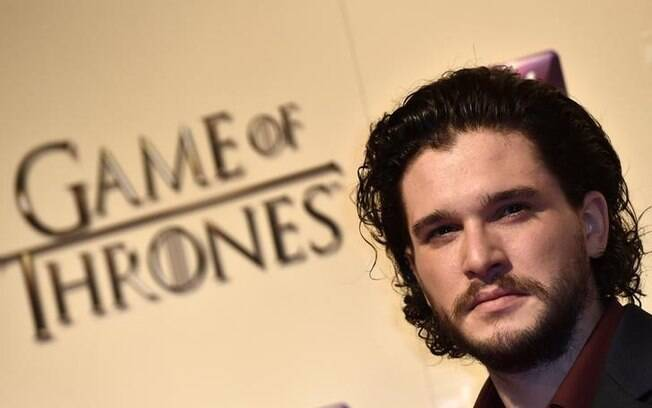 Kit Harington, que interpreta Jon Snow, durante evento em Londres