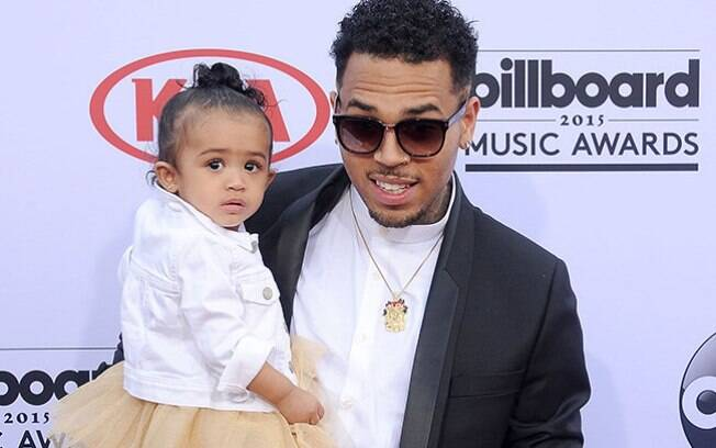 Chris Brown e a filha Royalty