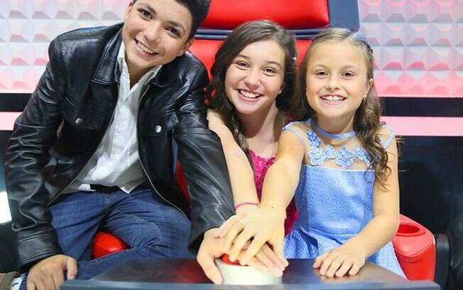 Finalistas do 'The Voice Kids' na cadeira do programa