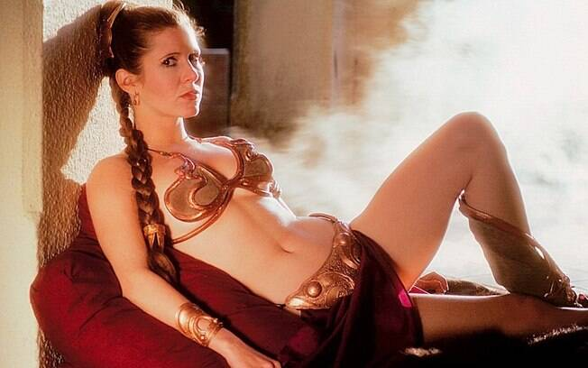 Carrie Fisher em ''Star Wars: O Retorno do Jedi''