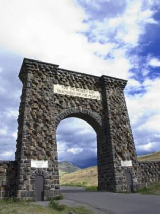 Entrada do parque Yellowstone
