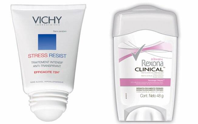 Stress Resiste, Vichy, R$45,90 | Rexona Clinical, Rexona, R$15,90
