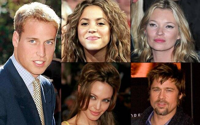 Príncipe William, Shakira, Kate Moss, Angelina Jolie e Brad Pitt: na mira do camarote Brahma