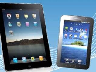 Os tablets iPad e Galaxy